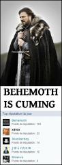 Behemoth is cuming