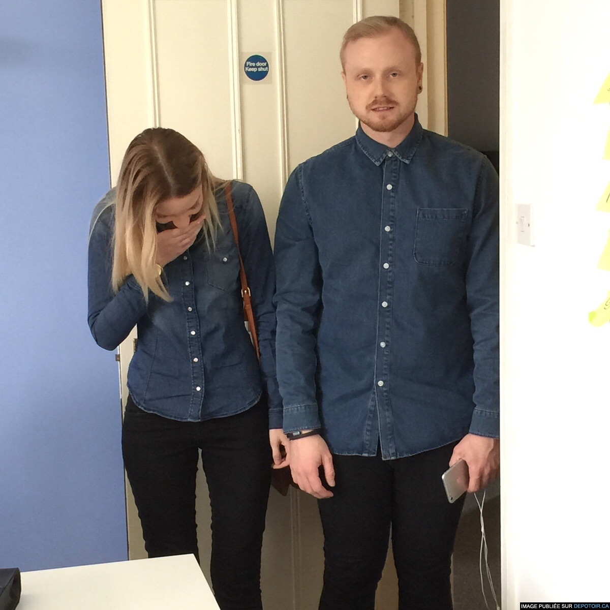 ..when you realise that you're dressed the same as someone else in the office today.