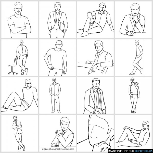 21 Sample Poses to Get You Started with Photographing Men