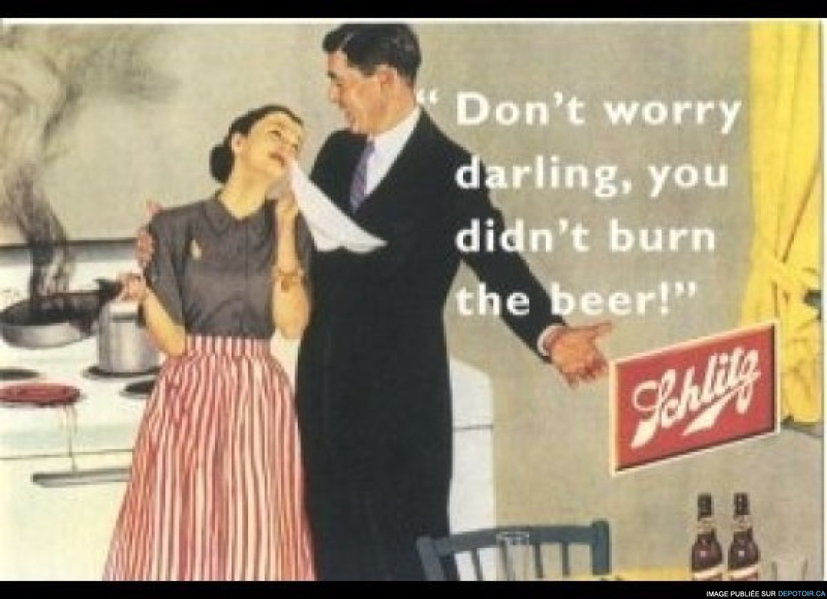 Don't worry darling, you didn't burn the beer !