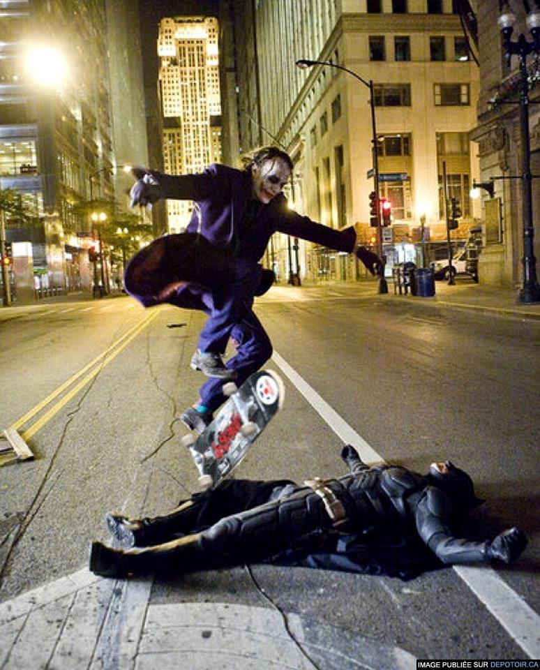 Le Joker ''poppe'' Batman