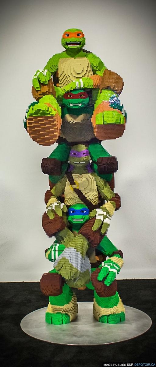 Tortues Ninja grandeur nature en LEGO