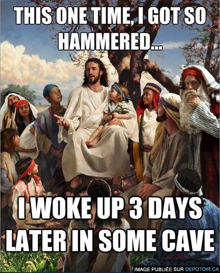 La résurrection de Jésus...