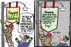 C'est Noël !... non le temps des fêtes !... non, Noël !