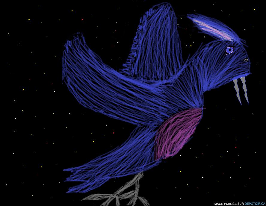 Oiseau fantôme de l'espace